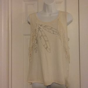American Eagle Outfitters fringed top